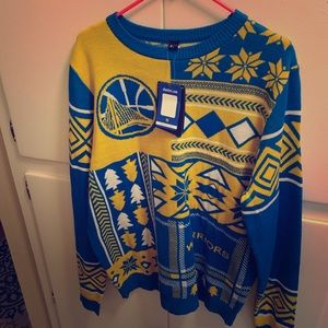 """Men's GS Warriors """"Ugly"""" Sweater. NWT never worn"""